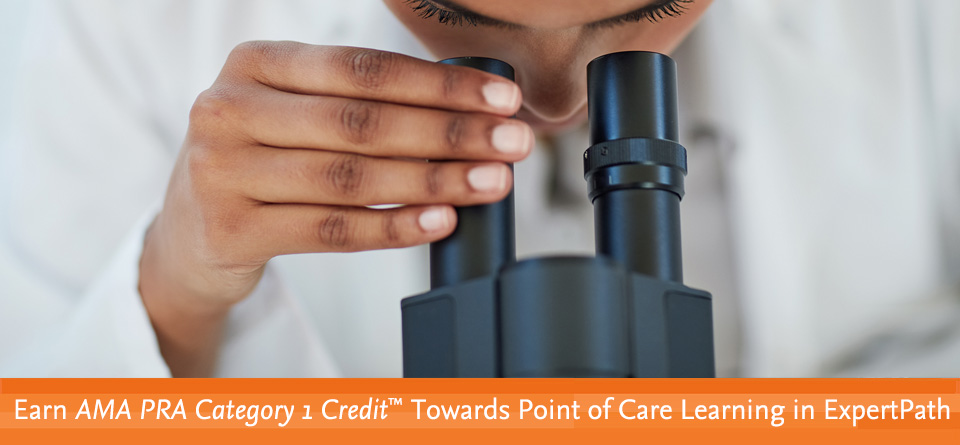 Earn AMA PRA Category 1 Credit™ Towards Point of Care Learning in STATdx